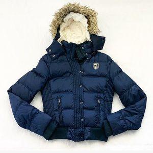 Like New American Eagle Navy Blue Down Puffer Coat